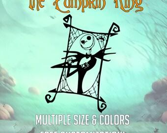 Jack Skellington the Pumpkin King- Multiple Sizes, Multiple Colors, Free Customization!