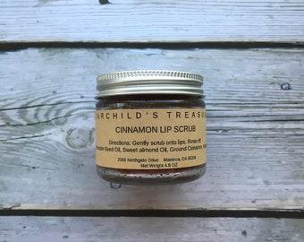 Cinnamon Lip Scrub / Sugar Scrub / Plumping Lip Scrub / Glycerin Scrub / Vitamin E Scrub / Gift for Her / Skin Care / Self Care / Lip Balm