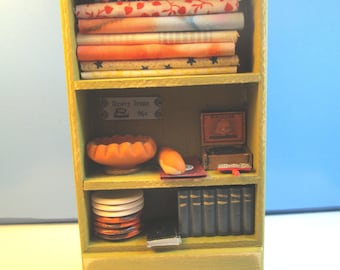 Miniature HandCrafted General Store Stocked Shelf : G323