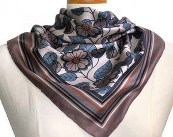 Bohemian Poppy Silk Scarf / Floral Silk Scarf / Pink Silk Scarf / Silk Scarf / NOW ON SALE