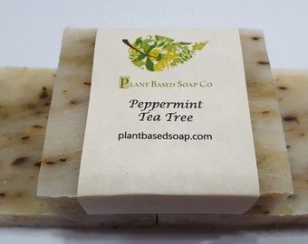 Peppermint Tea Tree, Organic Soap, Handmade Soap