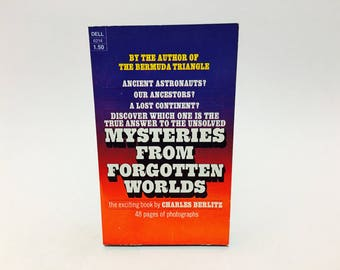 Vintage Occult Book Mysteries from Forgotten Worlds by Charles Berlitz 1975 Paperback