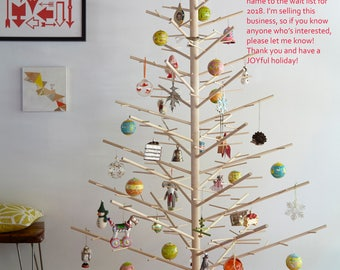 Wood Christmas Trees by ReTreeJoy! 6ft tall, Handmade in the USA, Modern, Reusable Wood Holiday Trees are JOYFUL + easy and fun to assemble!