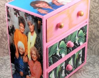Custom Golden Girls Pink Stash Jewelry Box