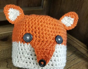 Crocheted Fox hat 12 to 36 month
