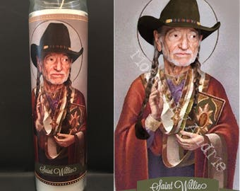 Willie Nelson Devotional Prayer Saint Candle