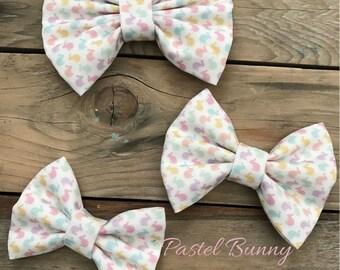 Easter Bunny Fabric Hair Bow Baby Girl Hair Bows Baby Headbands Photography Props Newborn Headbands