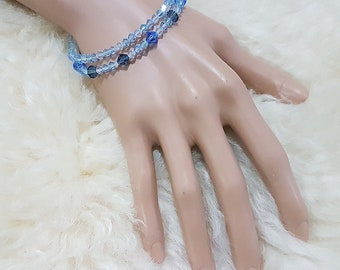 Oceanic Blue Genuine Swarovski Crystal Bracelet
