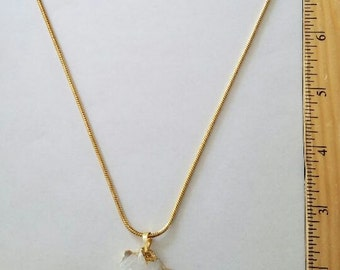 Crystal Cluster gold necklace