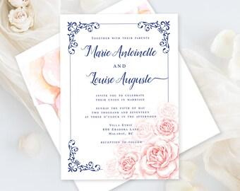 Wedding Invitations - Marie Antoinette, Let Them Eat Cake (Style 13770)