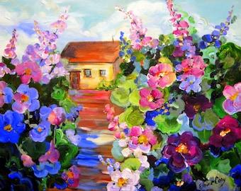 Original landscape painting 24 x 36 Art by Elaine Cory