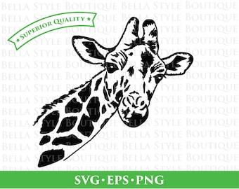 Giraffe Face svg png eps cut file