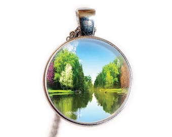 Spring Summer Jewelry, Necklace, Pendant Gift | Spring Trees Jewelry, Necklace, Pendant, Gift | Paradise Jewelry, Necklace, Pendant, Gift