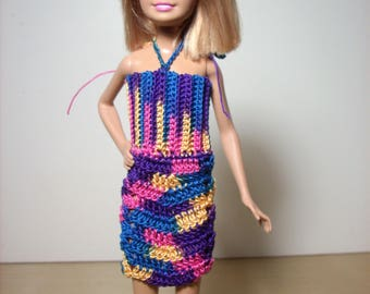 a fun dress for Stacie, done in bold bright colors