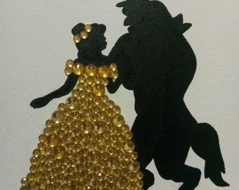 Beauty and the Beast Rhinestone Art
