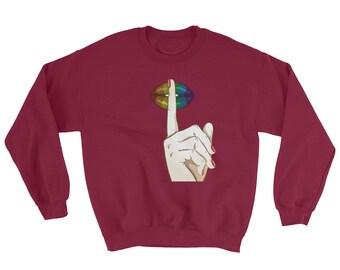 Quiet Please Sweatshirt // Stop Talking Please Sweater // Silent Please Sweater // No Talking Sweatshirt // Funny Please Gift Sweater