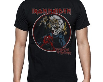Iron Maiden  The Number Of The Beast Vintage Heavy Metal Official Men Tshirt