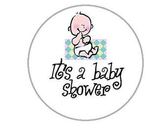 """Baby Shower Envelope Seals - 1.2"""" Baby Shower Stickers - 144 Stickers - 25129"""