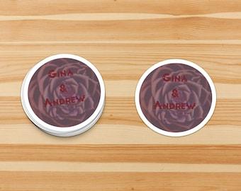 Custom Seals for Wedding  Favours & Invitations