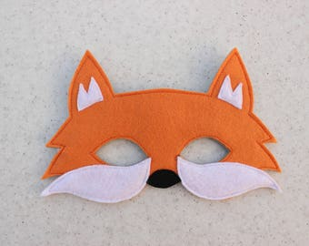 Fox felt mask - Kids dress up mask - Children animal mask - Party favor - Christmas party costume - Pretend play