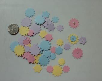 60 Stampin' Up Brand Bo Ho Pastel Punched Flowers Embellishments Cards Scrapbooks