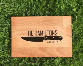 Personalised Cutting Board, Custom Chopping Board, Personalised Gift, Beech Wood Cutting Board, Housewarming Gift, Birthday Gift, Engraved