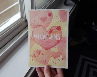 Original 5x7 Watercolour - #LoveWins