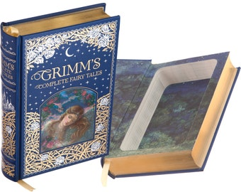 Hollow Book Safe - Grimm's Complete Fairy Tales (Blue) (Leather-bound) (Magnetic Closure)