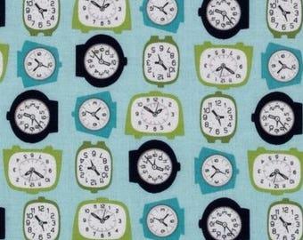 Mini clock 54cmx22 cm fabric coupon