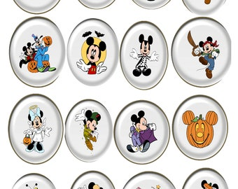 Halloween Disney Set HDD1-Digital Clipart-Pumpkins-Gift Tag-Party-CakeTopper-Notebook-Scrapbook-Jewelry-banner-background-gift card.