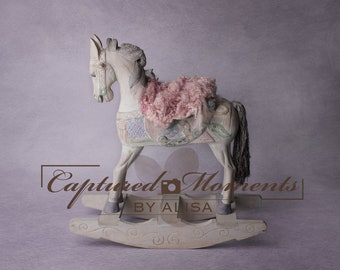 Newborn Rocking Horse Digital Backdrop