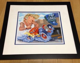 Brian Setzer giclee print, framed