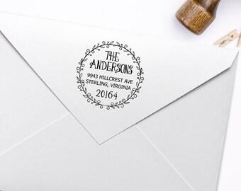 Return Address Stamp, Housewarming Gift Stamp, DIY Wedding Rubber Stamp. Address Label Stamp 2x2 Inch - A18