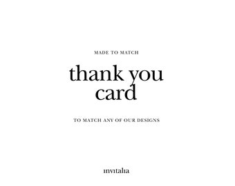 Printable Thank You card,Made to Match thank you card,Choose any of shop's designs,made to match card