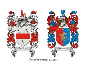 Dual Coat of Arms Crest