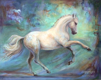 Dressage Horse-On Canvas-Horse Artwork-'Harmony'