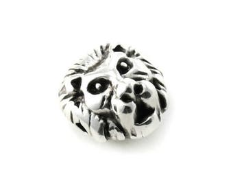 10, 20 or 50 beads silver-plated 11x12mm hole 1.7 mm lion head