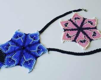 DIY pdf instructions on how to make this PINK FLOWER step-by-step, row-by-row