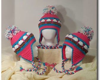 Cupcake Hat with Optional Ear Flaps Crochet Pattern