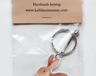Bunny Rabbit animal keyring