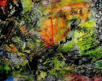 Abstract Acrylic Painting