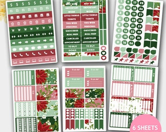 December Stickers 2017, December Winter  Sticker Kit, December Stickers for Life Planners, Stickers,Planner Stickers
