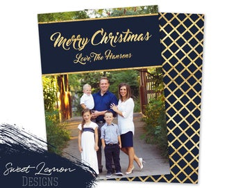 Choose any Color to match your photo - Christmas Card with Photo