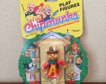 1983 Alvin Cowboy Chipmunk Figure in Package