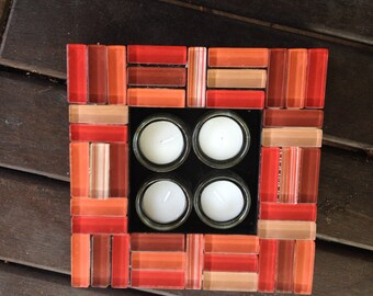 Chinese Red Tea Light Candle Holder