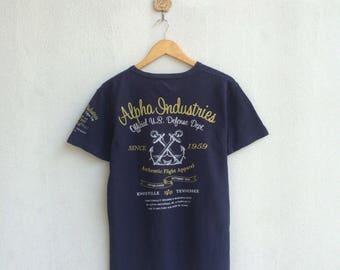 Vintage Alpha Industries T-Shirt Nice Design