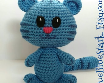 Tigey stuffed toy from Daniel Tigers Neighborhood handmade crochet READ ITEM DETAILS below