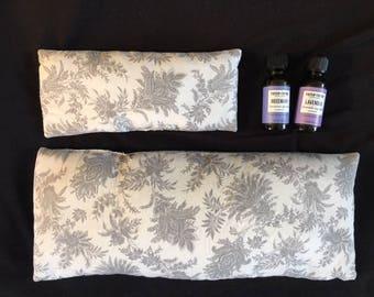 Grey Paisley Abdomen Pillow