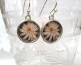 Delicate Lotus Blossom Earrings. Lovingly handmade in Brooklyn by Wishing Well Studio.