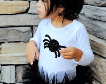 Itsy Bitsy Spider Tutu Baby Bodysuit Girl Toddler Halloween Costume Clothing